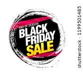 black friday sale banner layout ... | Shutterstock .eps vector #1199501485