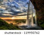 Seljalandfoss Waterfall At...