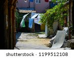 old courtyard of the city of... | Shutterstock . vector #1199512108