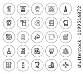 household icon set. collection... | Shutterstock .eps vector #1199516872