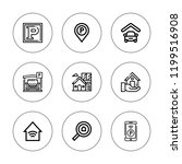 garage icon set. collection of...   Shutterstock .eps vector #1199516908