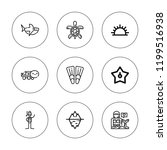 underwater icon set. collection ... | Shutterstock .eps vector #1199516938