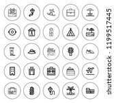 vacation icon set. collection... | Shutterstock .eps vector #1199517445