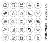 shirt icon set. collection of... | Shutterstock .eps vector #1199517478