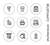 pot icon set. collection of 9... | Shutterstock .eps vector #1199518738