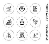 party icon set. collection of 9 ...   Shutterstock .eps vector #1199518882