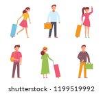 traveling people  isometric... | Shutterstock .eps vector #1199519992