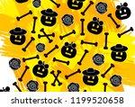 halloween background with... | Shutterstock .eps vector #1199520658