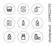 pure icon set. collection of 9... | Shutterstock .eps vector #1199522755