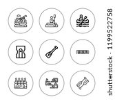 row icon set. collection of 9... | Shutterstock .eps vector #1199522758