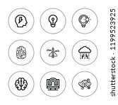 brainstorm icon set. collection ... | Shutterstock .eps vector #1199523925