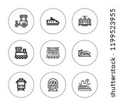 rail icon set. collection of 9... | Shutterstock .eps vector #1199523955