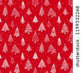 christmas tree seamless pattern.... | Shutterstock .eps vector #1199532268