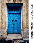 Old Door In The City Of Tunisi...