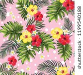 tropical seamless vector... | Shutterstock .eps vector #1199540188