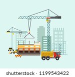 building work process with... | Shutterstock .eps vector #1199543422