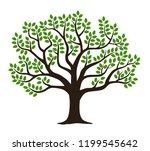 Green Leaf Tree Silhouette