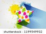 vector splatter colorful star...   Shutterstock .eps vector #1199549932