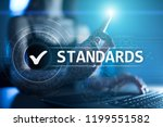 standards  quality control ... | Shutterstock . vector #1199551582