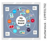 dreams vision board infographic ... | Shutterstock .eps vector #1199551702