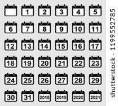 vector set of 36 calendar icons ... | Shutterstock .eps vector #1199552785