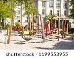 public playground within the... | Shutterstock . vector #1199553955
