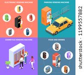 vending machines isometric... | Shutterstock .eps vector #1199557882