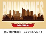 manila philippines city skyline ... | Shutterstock .eps vector #1199572345