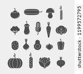vegetables flat vector icons... | Shutterstock .eps vector #1199572795