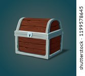 isolated dower chest or... | Shutterstock .eps vector #1199578645
