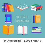 set of isolated reading book... | Shutterstock .eps vector #1199578648