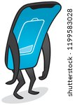 mobile phone is low on power... | Shutterstock .eps vector #1199583028