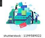 business series  color 3  cart  ... | Shutterstock .eps vector #1199589022