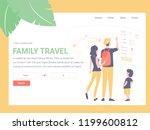 landing template. family book... | Shutterstock .eps vector #1199600812