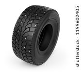 small toy winter studded tire... | Shutterstock . vector #1199602405