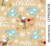 seamless pattern with christmas ... | Shutterstock .eps vector #1199603638