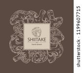 background with shiitake ... | Shutterstock .eps vector #1199607715