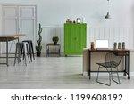 white living room concept... | Shutterstock . vector #1199608192