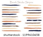 cool ink brush stroke stripes... | Shutterstock .eps vector #1199610658