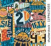 vintage american college sport... | Shutterstock .eps vector #1199619355