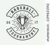 vintage baseball sport logo ... | Shutterstock .eps vector #1199621542