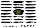 brush strokes collection. hand... | Shutterstock .eps vector #1199622925