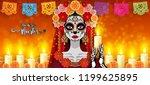 day of the dead  dia de los... | Shutterstock .eps vector #1199625895