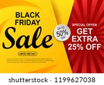 black friday sale banner.... | Shutterstock . vector #1199627038