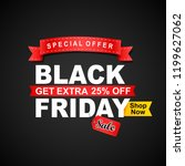 black friday sale banner.... | Shutterstock . vector #1199627062