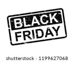 black friday grunge stamp. | Shutterstock . vector #1199627068
