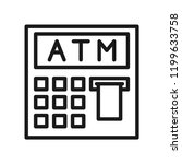 cash machine  atm icon. simple... | Shutterstock .eps vector #1199633758
