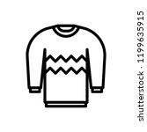 winter sweater line icon | Shutterstock .eps vector #1199635915
