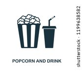 popcorn and drink icon....