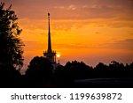 sunset over the seaport in... | Shutterstock . vector #1199639872